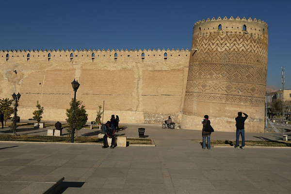 Karim Khan Castle in Shiraz resembles a medieval fortress.
