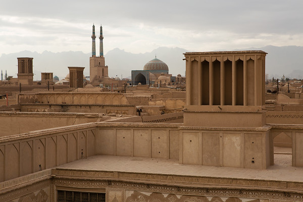 Jame Mosque has the highest minarets in Iran measuring 52 meters in height.