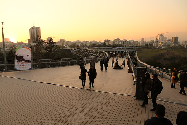 Tabiat bridge is a popular place for walking.