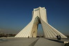 Azadi Tower (Liberty Tower) in Tehran. It was built in 1971 to commemorate 2,500th anniversary of the Persian Empire and is surrounded by several fountains.