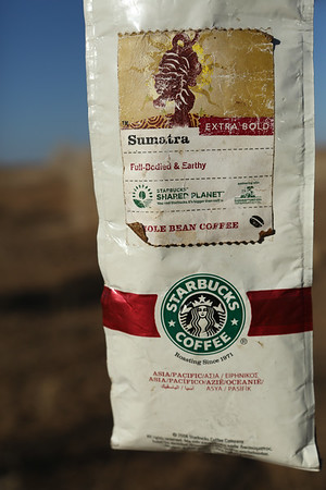 Coffee for breakfast. I don't know how they found Starbucks coffee as they don't have any shop in Iran.