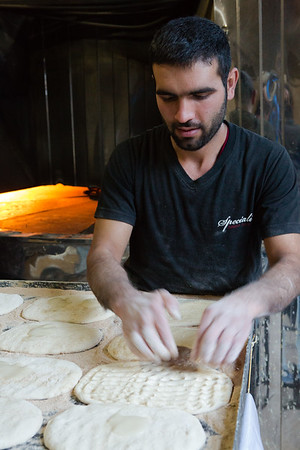 Dough was mixed using a machine but the process of shaping the breads was manual.