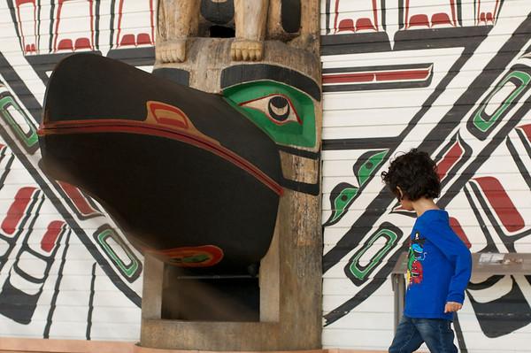 Jaden loved the totem poles