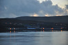 Bonahaven from the ferry: The light is fading for our first glimpse of Bunnahabhain and its distillery