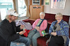 Sheila & Nan are entertained to a range of card tricks