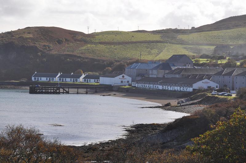 Bunnahabhain bay, distillery, pier & village, Isle of Islay