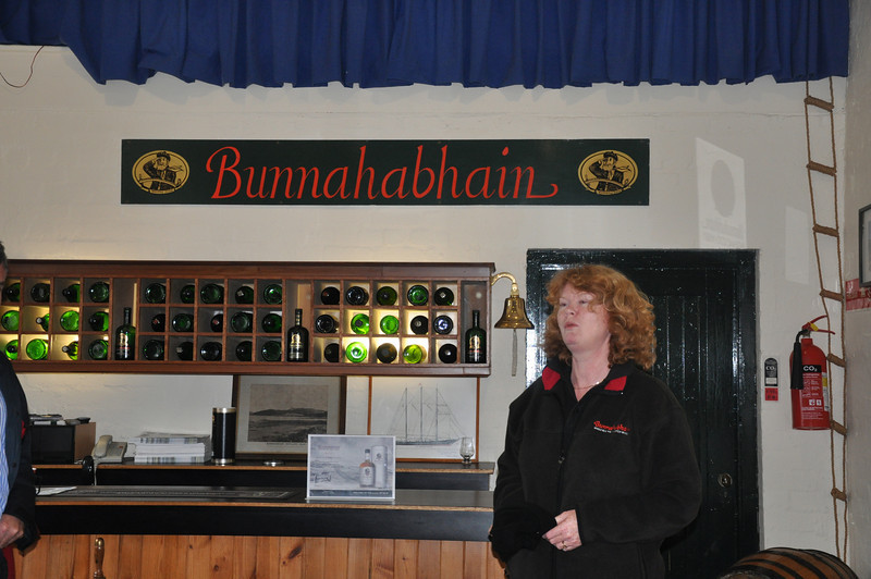The Bunnahabhain Distillery Manager's wife was our guide. She's lived in our old house for the last 19 years
