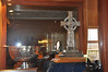 This golf trophy is a replica of the stolen Kildalton Cross at the Machrie Hotel, Islay. The original trophy, in solid silver, has never been recovered
