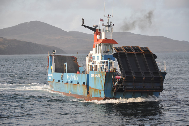 The Islay to Jura ferry arriving at Feolin from Port Askaig