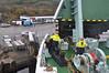 Macbraynes Ferry arriving at West Loch Tarbet