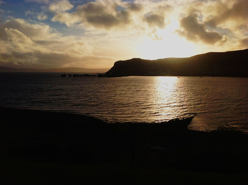 The view over Uig Bay, Skye.