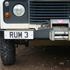 August 2006. The other Land Rovers on the island have similar registration plates.