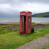 August 2006. Battered red telephone box, Isle of Rum.