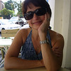 Happy sunny wife in Tel Aviv