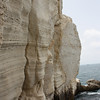 The chalk cliffs at Rosh Hanikra, literally a stone's throw from the Lebanese border.