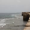 The sea walls at Akko