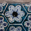 Decorative tiles from the Turkish bathhouse in Akko.