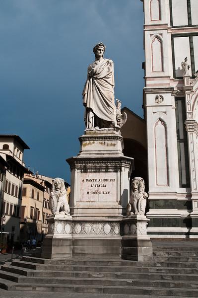 Dante, near Santa Croce, Florence Italy