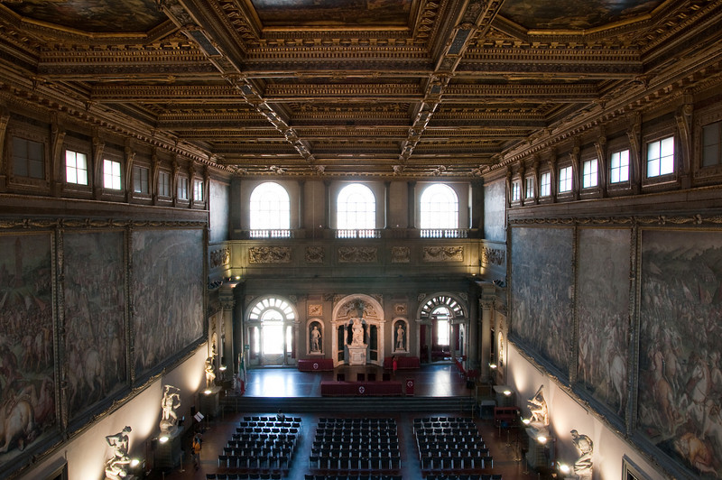 Inside the palazzo Vecchio, Florence, Italy