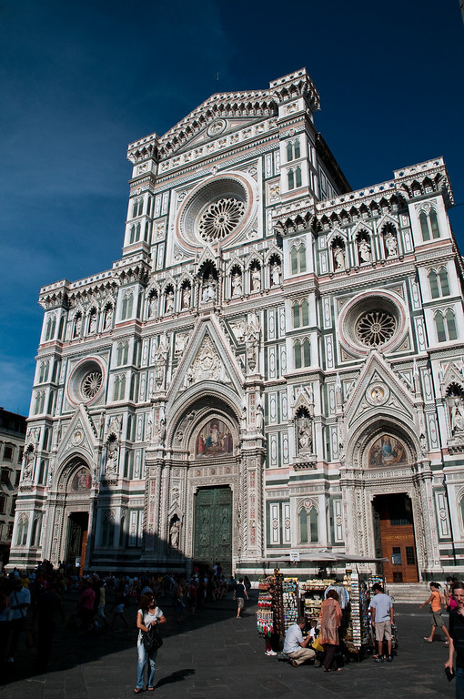 Entrance of the Cathedral, Florence, Italy