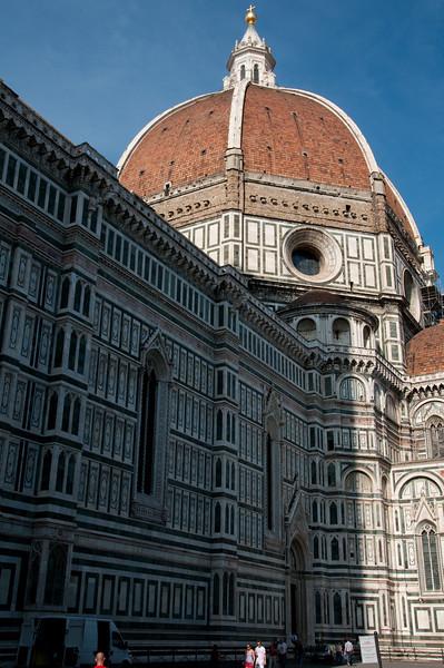 Vue extŽrieure de la cathŽdrale de Florence.