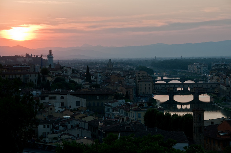 Florence, and the ponte vecchio, Italy