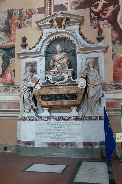 Tombeau de Galileo Galilei in Santa Croce, Florence Italy.