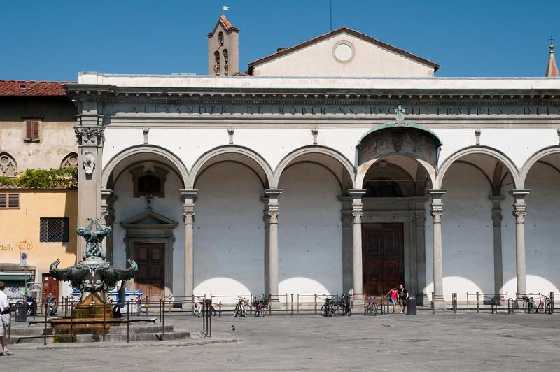 Piazza de la santa annunziata, Florence, Italy