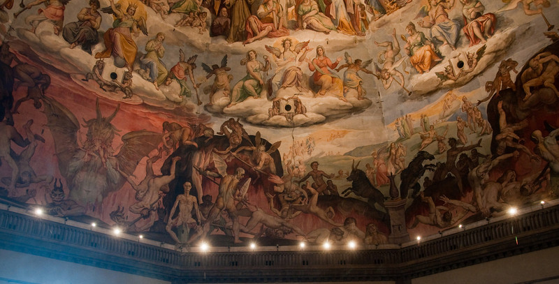 IntŽrieur du d™me de la cathedrale de Florence, Italie