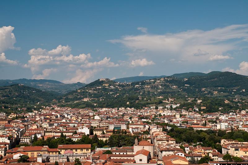 Vues de Florence depuis le d™me de la cathŽdrale.
