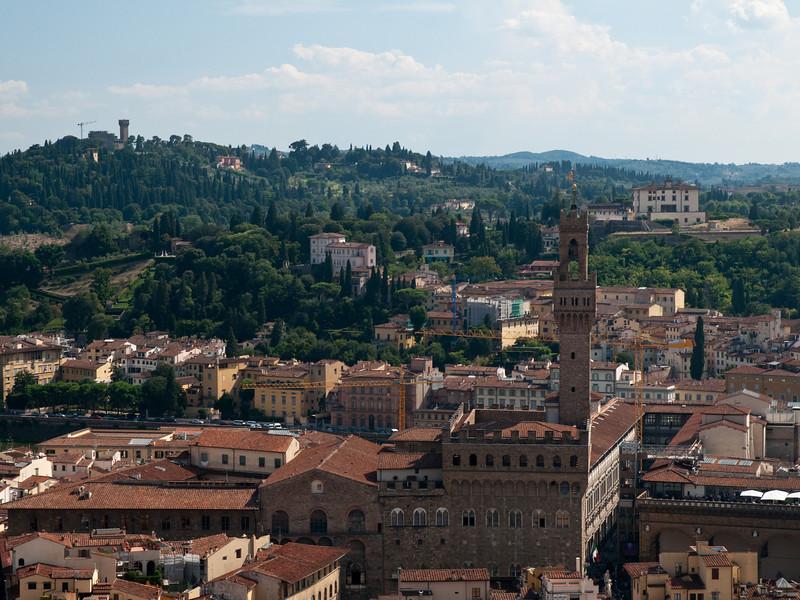 Palazzo Vecchio ? Vue depuis le d™me de la cathedrale, Florence, Italie