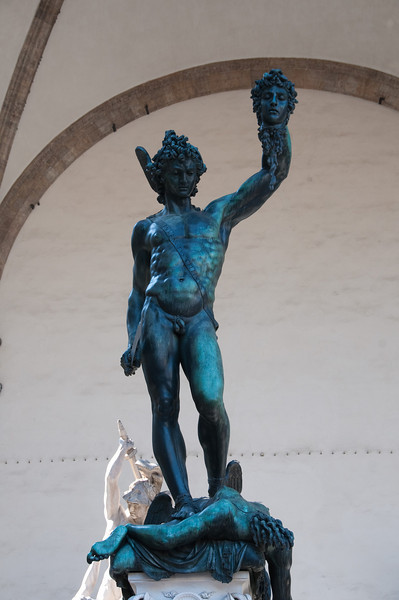 Perseus with the head of Medusa, Piazza della signora, Florence, Italy