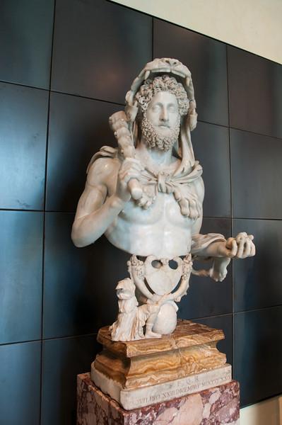 Marcus Aurelius Commodus Antoninus represented as Hercules. Capitoline Museums, Rome Italy