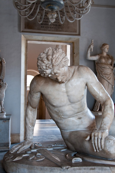 The dying gaul. This is a roman copy of a greek original. Capitoline Museums, Rome Italy.
