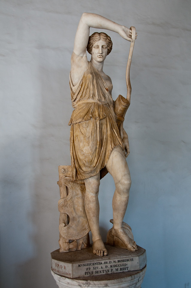 Statue of a wounded amazon. Capitoline Museums, Rome, Italy.