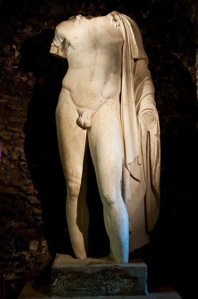 This statue of a young god is dated around the first century BC. Capitoline museums, Rome Italy.