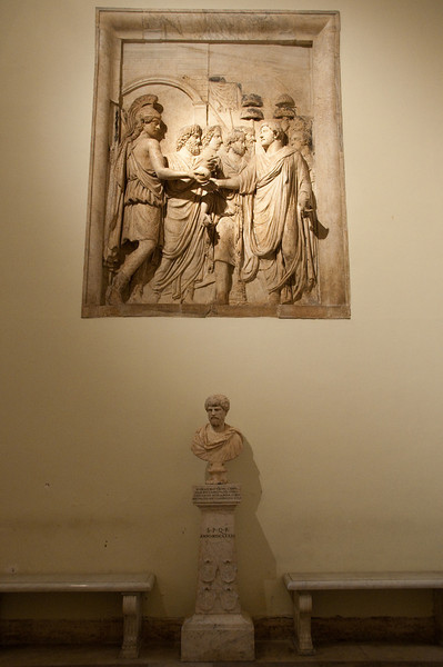 """Adventus of Hadiran"": this relief shows emperor Hadrian entering rome (probably after the jewish wars) 134 A.D. Rome, Musei Capitolini."