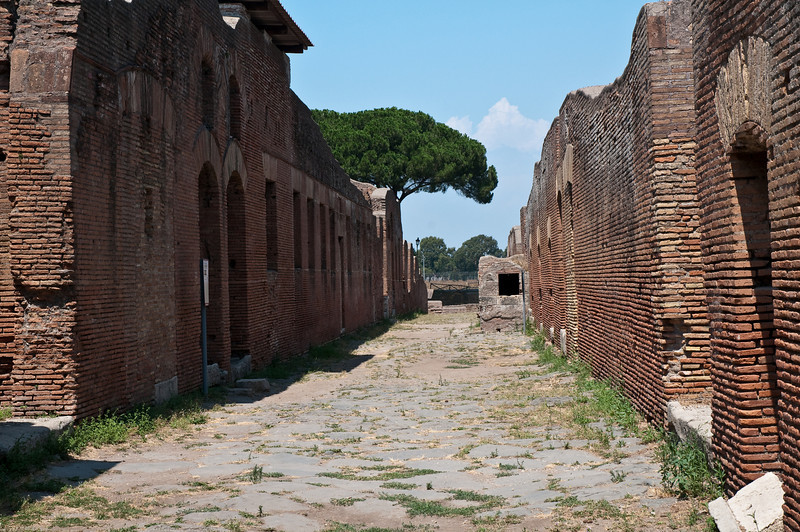 Insulae (roman apartment building for the low and middle class roman citizens).  Ostia Antica, Italy.