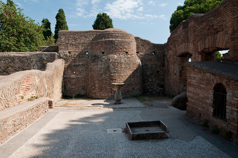 The Thermopilium (the most famous tavern of Ostia Antica). This is the oldest tavern that I know of. Ostia Antica, Italy.