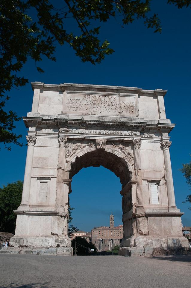 Arco di Tito in the Roman Forum, Rome Italy