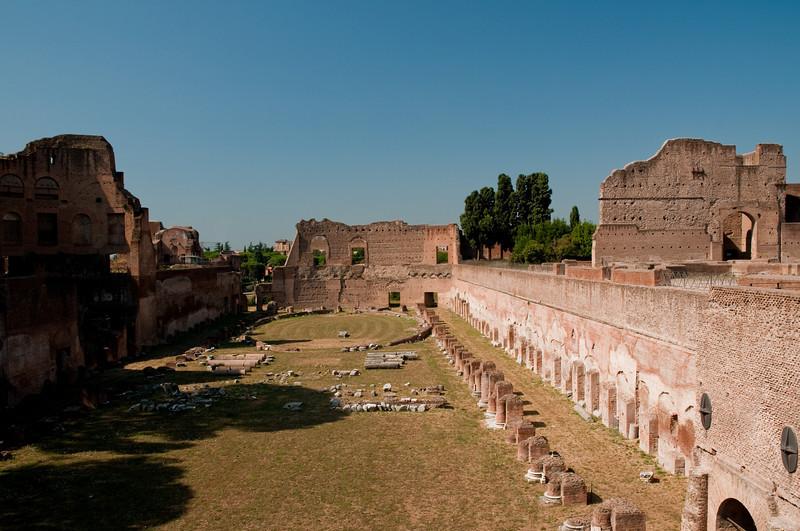 roman stadium, Palatino, Rome Italy