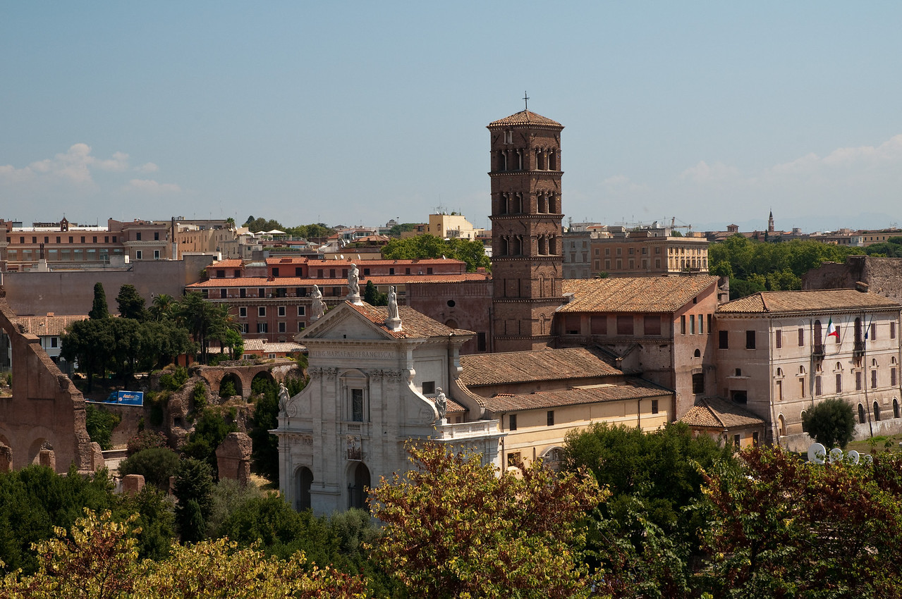 view or Rome from the palatine hill, rome, italy