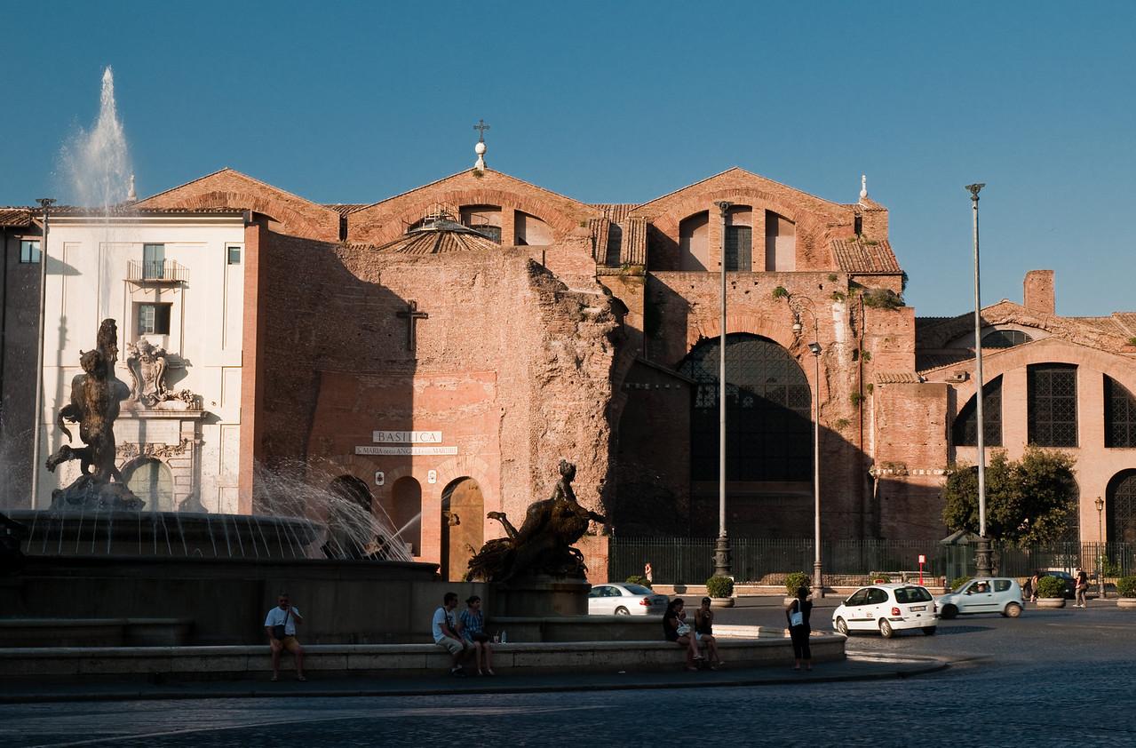piazza della republica, Rome, Italy