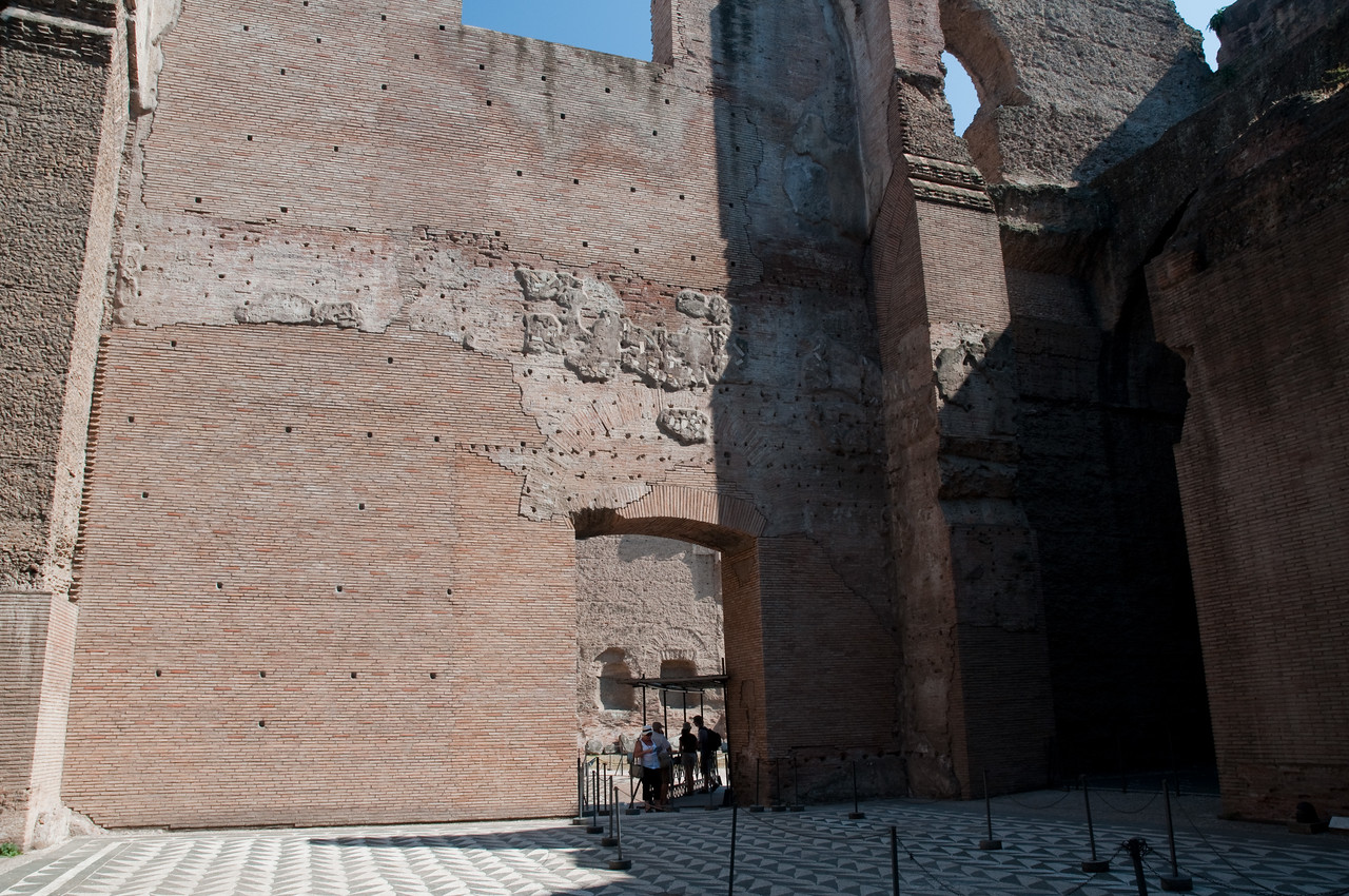 baths of Caracalla, Rome, Italy. These were the largest baths of the roman empire (large enough for 1600 visitors!).