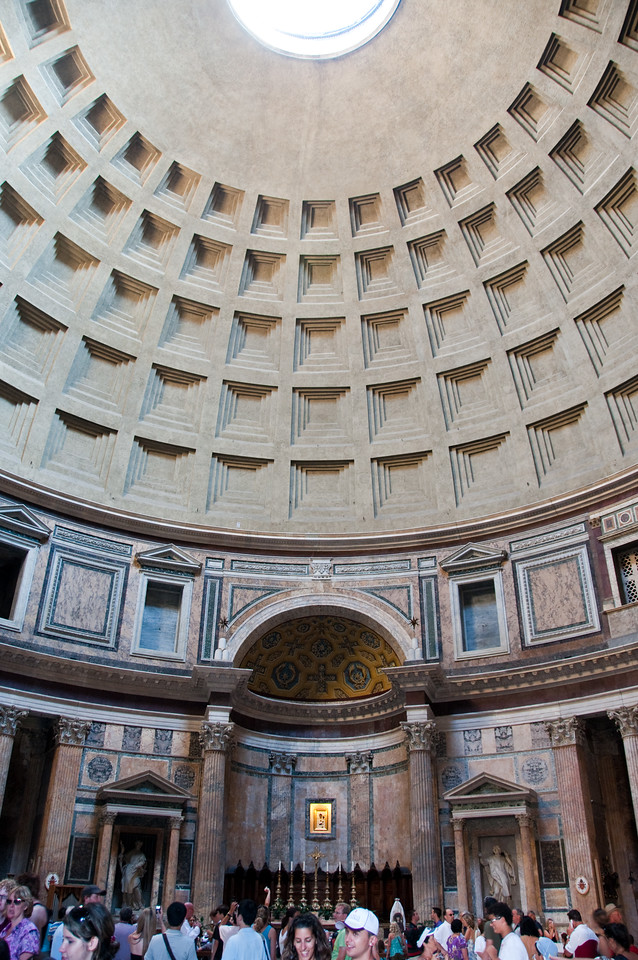 inside the Panthon, Rome, Italy