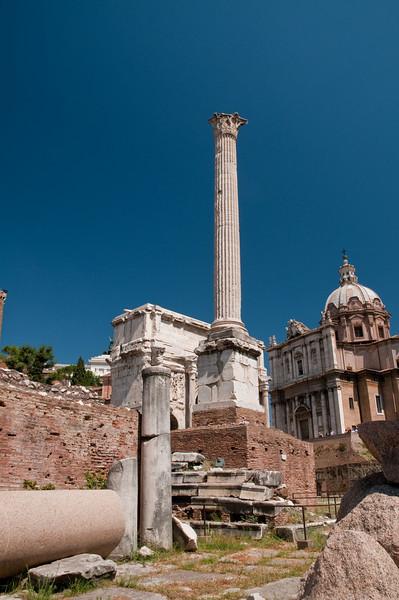 Phocas Column, Roman Forum, Rome, Italy