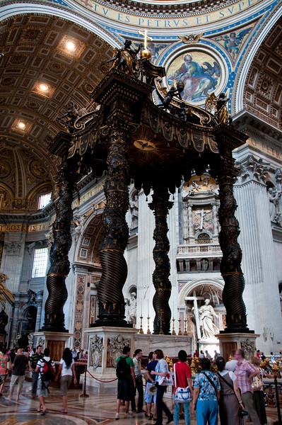 inside St. Peter's Basilica, Vatican.