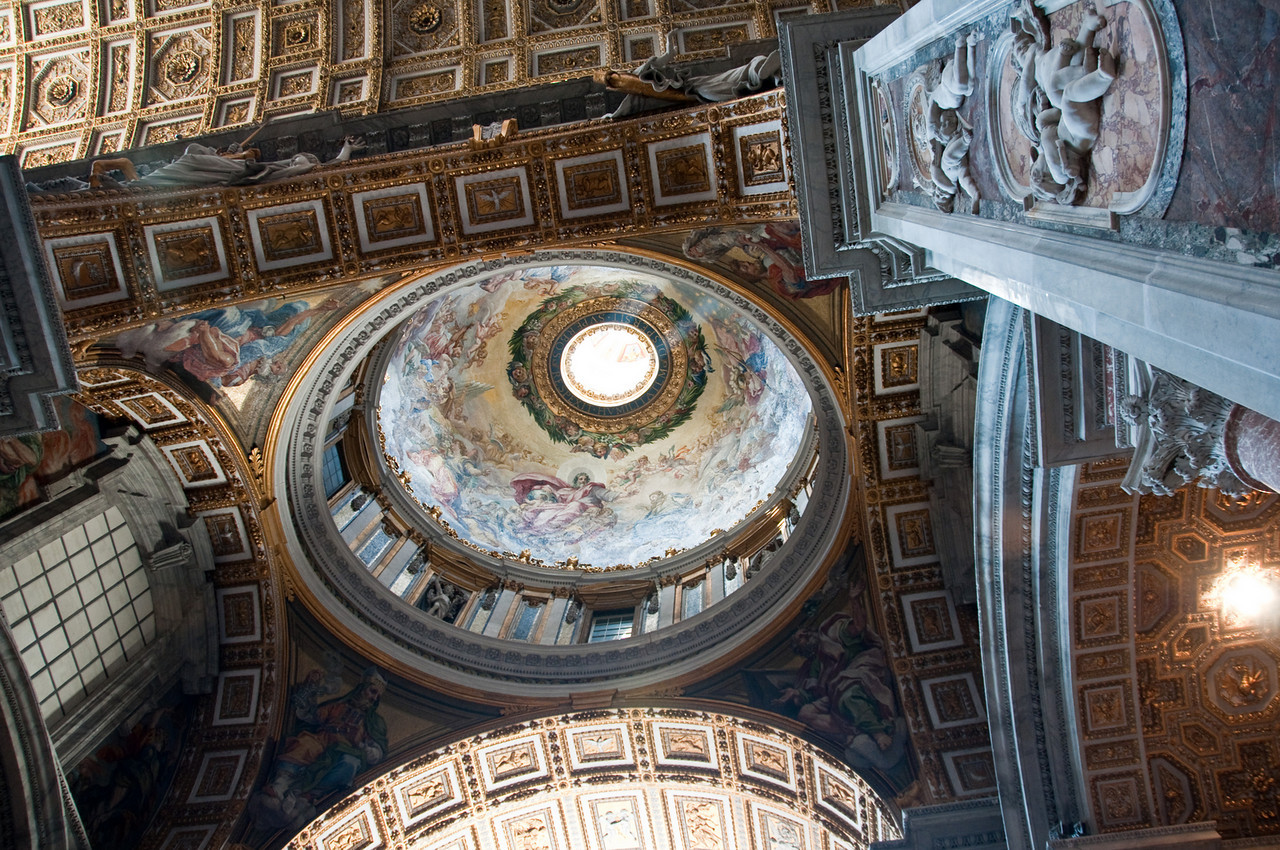 The dome of St. Peter's Basilica, Vatican.