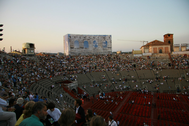 View from inside Verona Arena before the performance