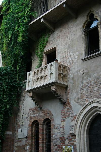 Romeo and Juliet's balcony in Verona